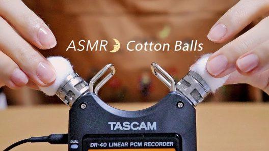 [Japanese ASMR] Cotton Ball Sounds / Whispering / コットンボールの音