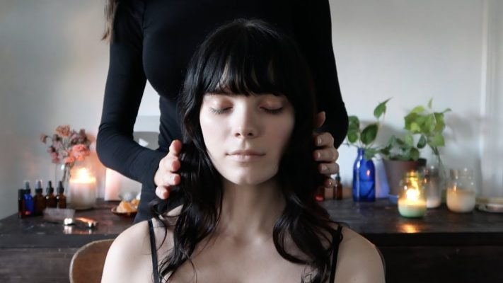 ASMR massage with reiki for relaxation and mental clarity (whisper)