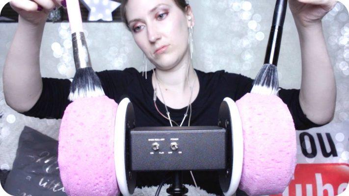 ASMR 3Dio 海绵罩 | 毛刷声 轻压声 抓挠声 褶皱手套 摩丝泡沫 低声耳语声